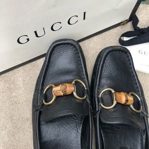 Authentic Gucci Leather loafers (over 50% off)
